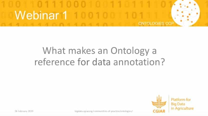 Webinar – What makes an ontology a reference for data annotation?