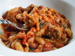 pork-sausages-cassoulet