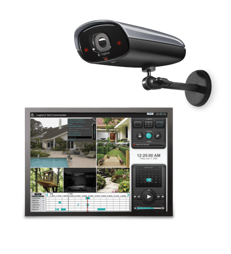 Logitech Alert 750e Outdoor Master Security Camera System with Night Vision