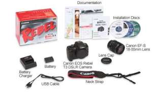 Canon EOS Rebel T3 DSLR Camera - 12.2 mp, CMOS Sensor + 18-55MM EF-S Lens