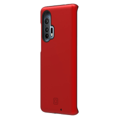 Incipio – Dualpro Case For Motorola Moto Edge Plus – Iridescent Red And Black