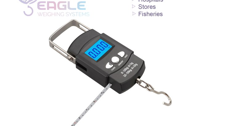 Waterproof digital hanging scales for fisheries
