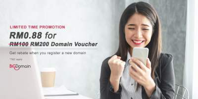 【RM0.88 Promo】 RM200 Bonus Vouchers. Applicable for the Purchase of Domain / Hosting! 7