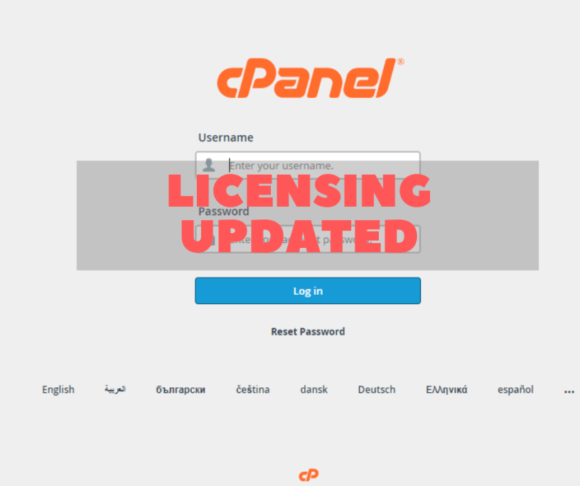 Changes in Cpanel Licensing could be shocking 1