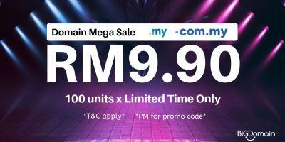 RM9.90 Domain Mega Sale! 10