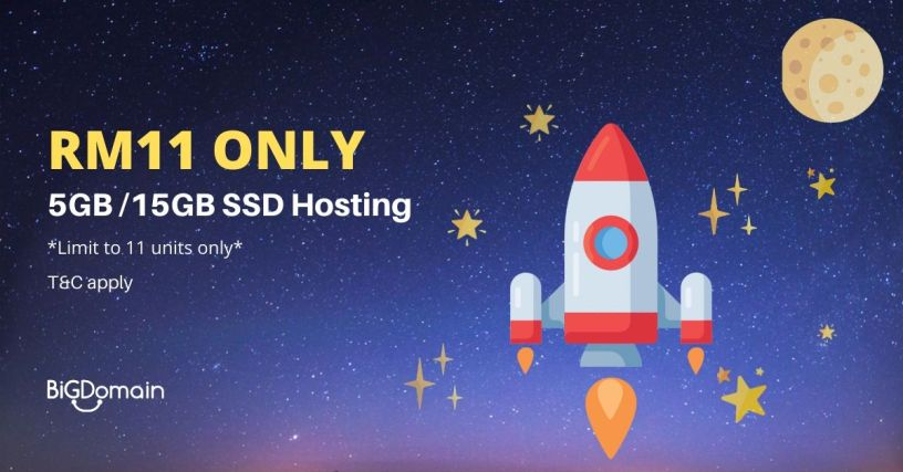 Get SSD powered Litespeed cPanel Hosting with only RM11 1