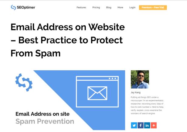 checkout  https://www.seoptimer.com/blog/email-address-on-website/  talks about email harvesting