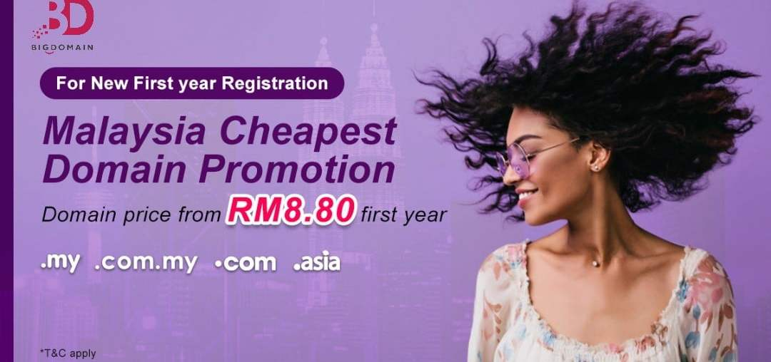 Malaysia Craziest Cheapest Domain Name This October 2020. Domain Name from RM8.80 / 1st year