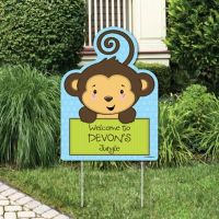Monkey Boy Baby Shower Decorations & Theme ...