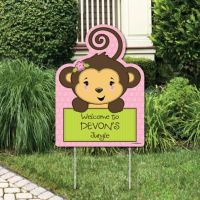 Monkey Girl Baby Shower Decorations & Theme