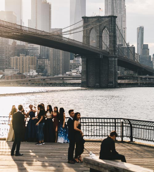 prom picture next to a bridge - Proms