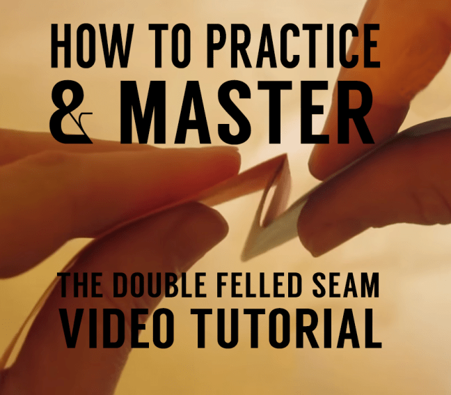 How sew a double felled seam