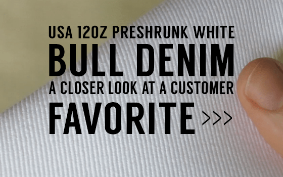 9695b56802 VIDEO CLOSE UP  USA White Bull Denim – Big Duck Canvas Blog