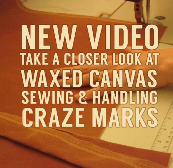 waxed canvas new video