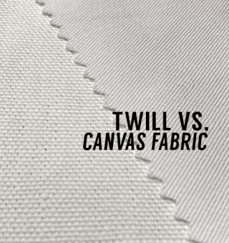what is the difference between twill and canvas