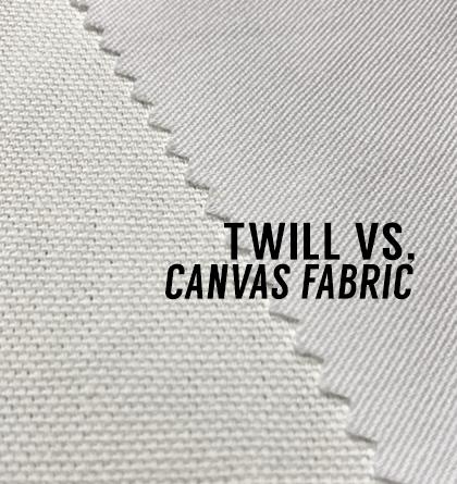 Twill vs Canvas Fabric
