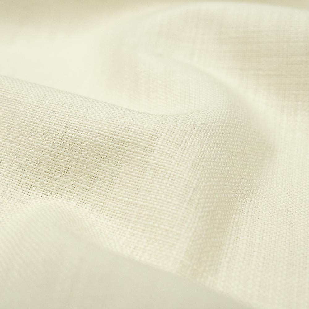 Linen blend fabric (Ivory) as a factory overrun at Big Duck Canvas.