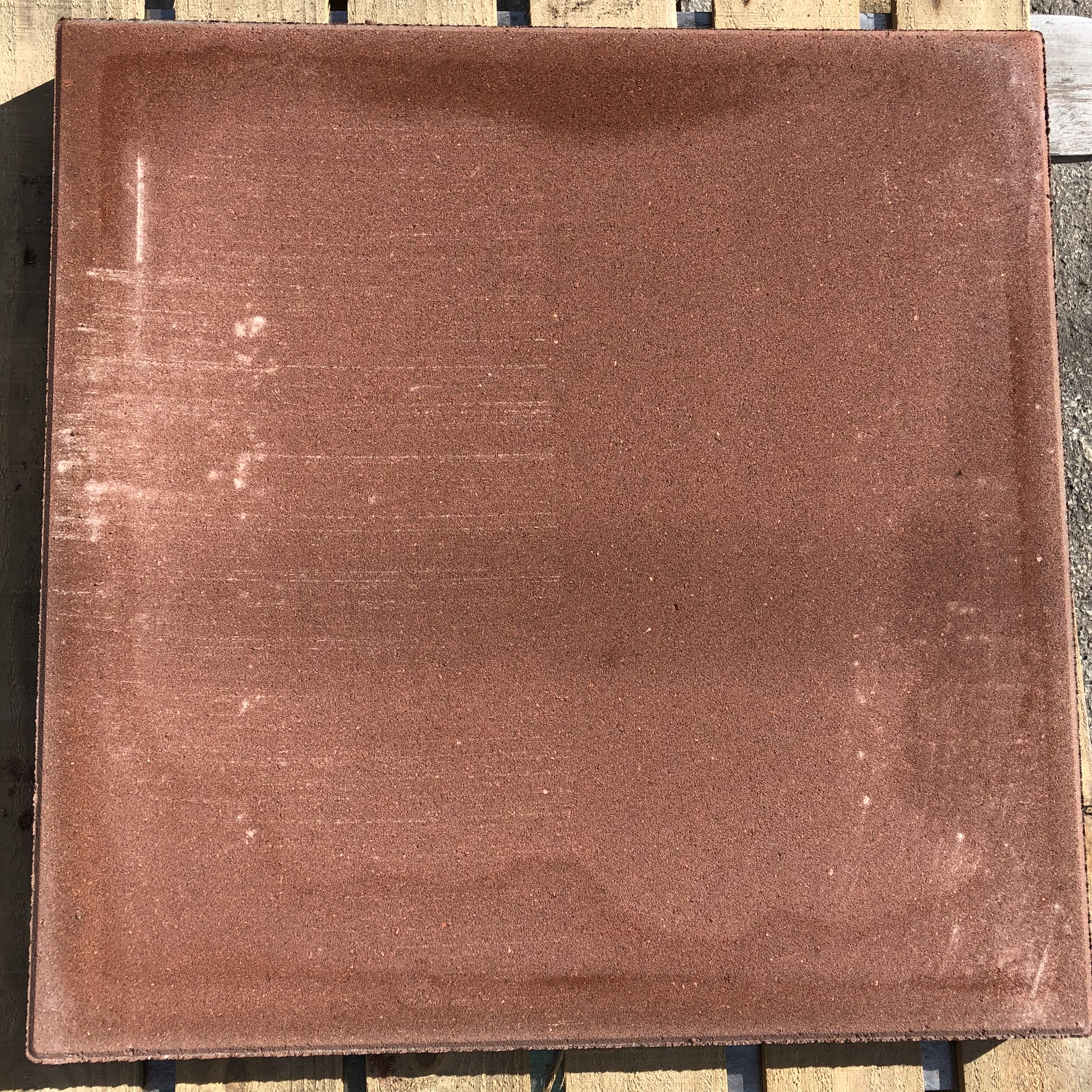 stone 24 x 24 square red