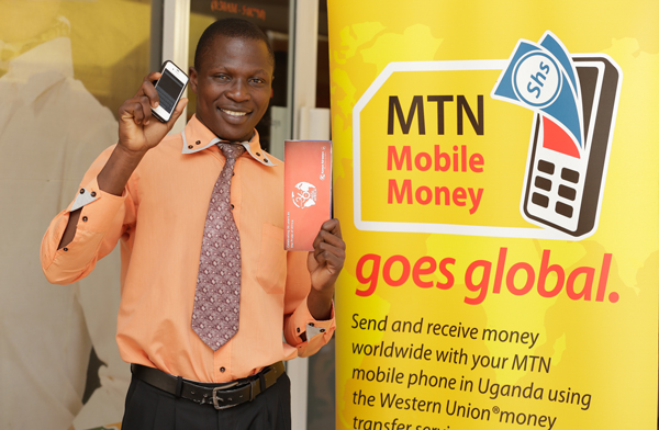 Moses Eswalu - first customer to purchase a KenyaAirways ticket using MTN Mobile money.