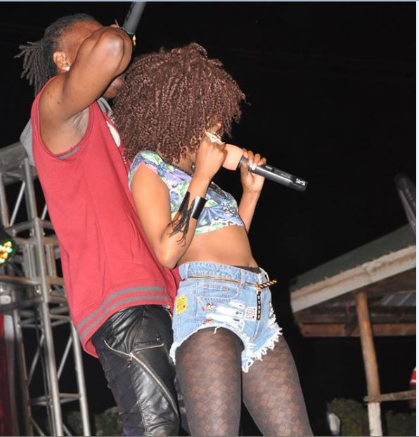 Sheebah and Pallaso dirty dancing in Mbarara recently.