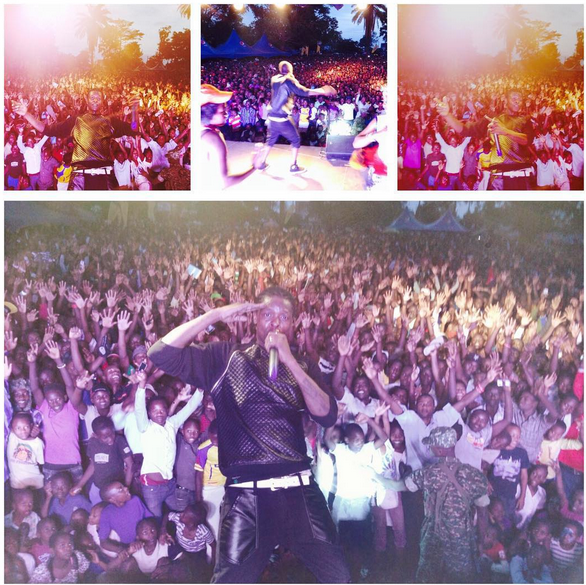 Chameleone performs in Mbarara district.
