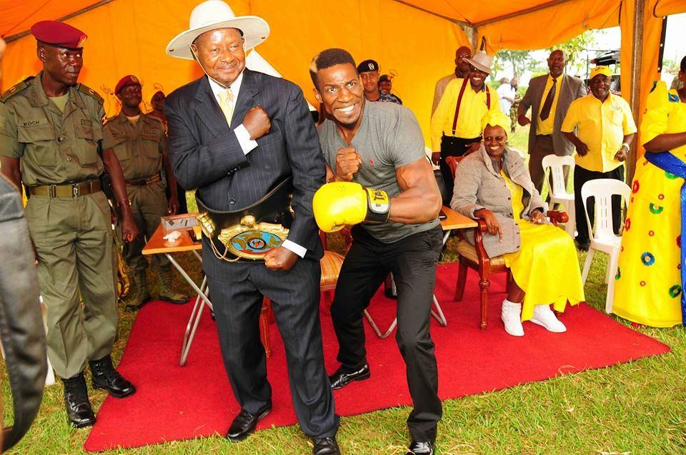 Golola Moses and President museveni