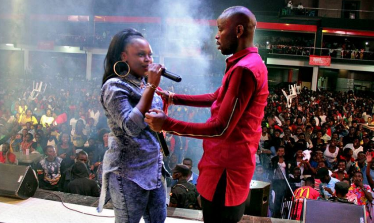 Eddy Kenzo and Rema get intimate on stage