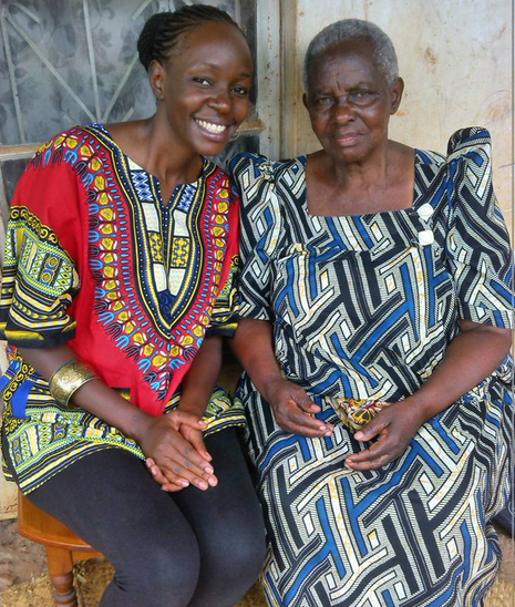 Robin Kisti poses with her grandmother