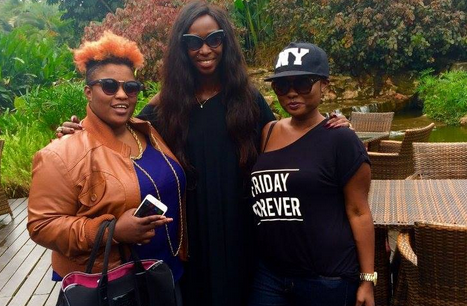 The Bahati sisters join Judith Heard in her school charity project