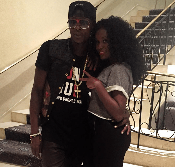Chameleone and Juliana hang out together.