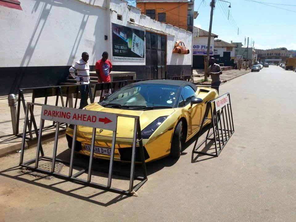 Katsha brings golden Lamborghini to Kampala