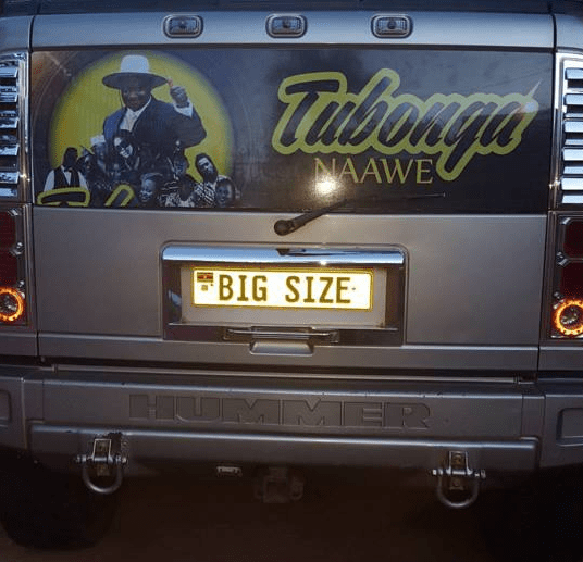 Bebe Cool puts Museveni posters on Hummer