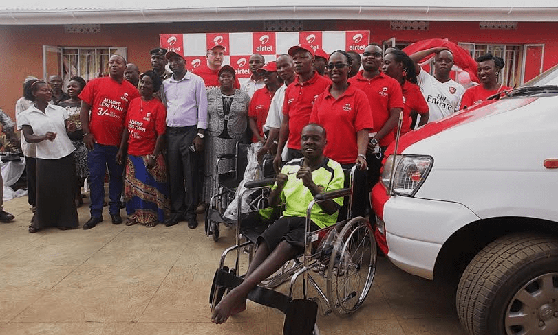 Airtel Uganda Hands Over Essential Equipment And Car To Mary
