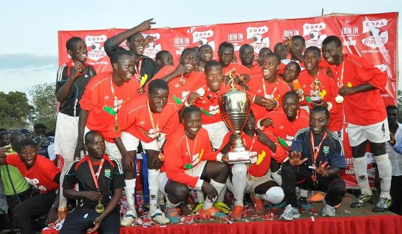 Kibuli players celebrate their victory after defeating St Mary's Kitende in the 206 Edition edition of Copa Coca-Cola