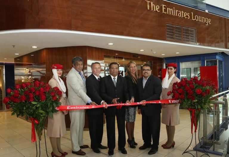 The official opening of Emirates' new lounge in the Cape Town International airport
