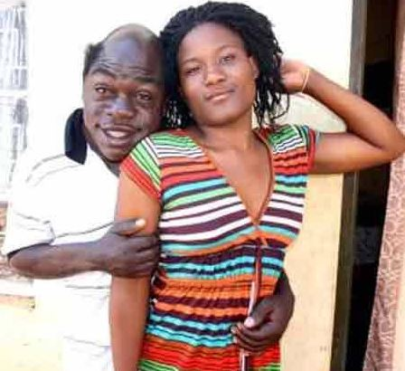 Comedian Kapere and his wife