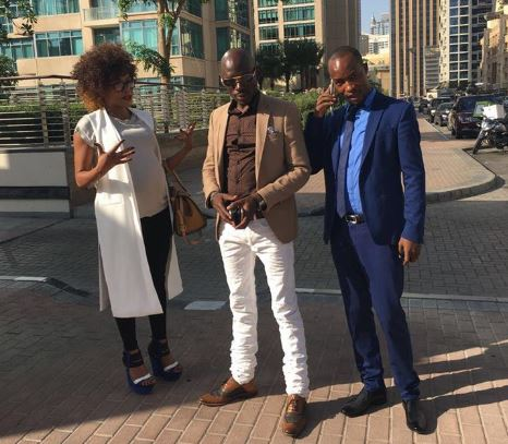 SK Mbuga and lover Vivianne enjoy Dubai