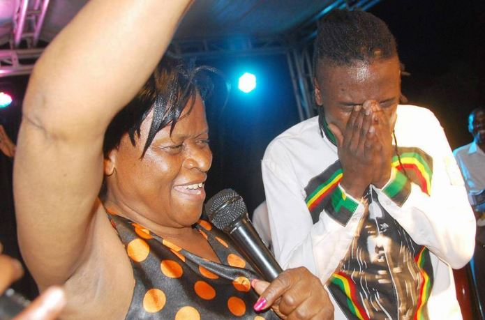 Weasel's mum joins him on stage during his performance