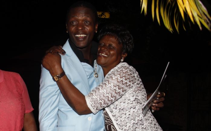Chameleone with his mother Proscovia