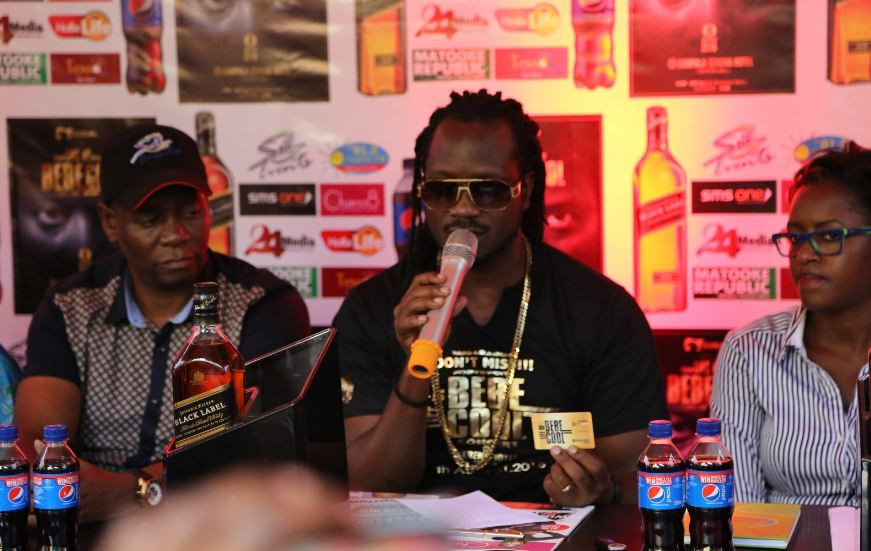 "Bebe Cool addresses media at his ""Life of Bebe Cool"" press conference"