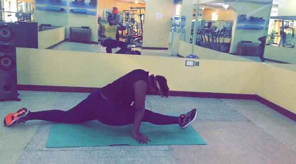 Winnie Nwagi working out