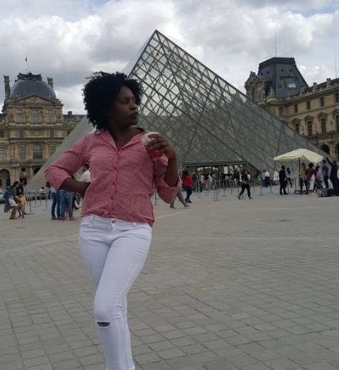Iryn Namubiru on holiday in France