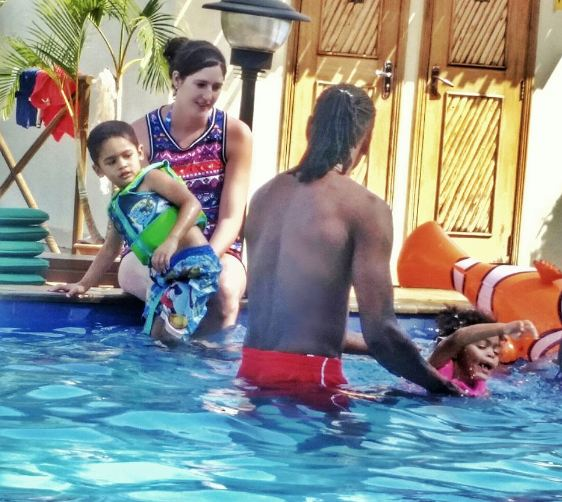 Pallaso enjoys time with family