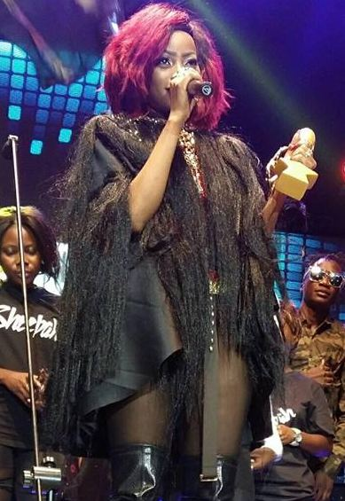 Sheebah Karungi at HiPipo Music Awards ceremony