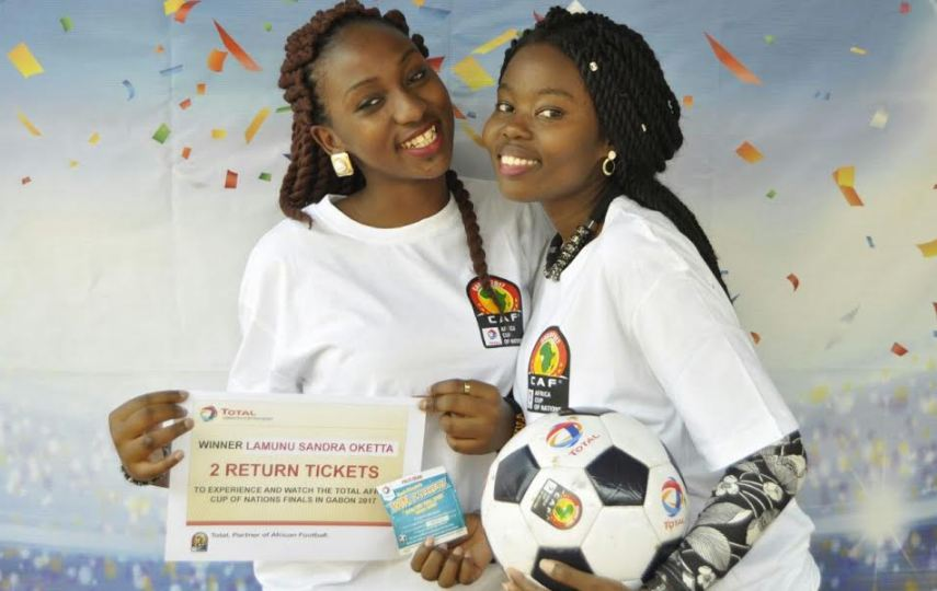 Total the official sponsors of AFCON are sending two lucky winners to watch the AFCON Finale