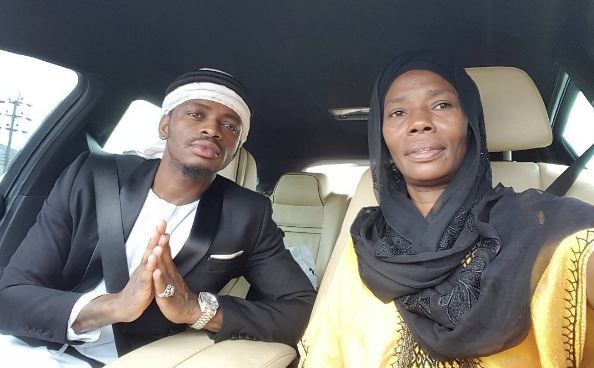 Diamond Platnumz and his mum Kendrah