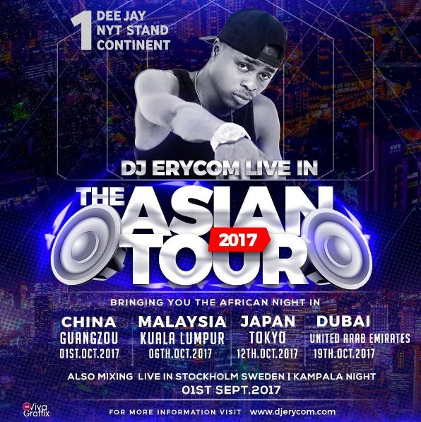 Dj Erycom set to tour Asia - BigEye UG