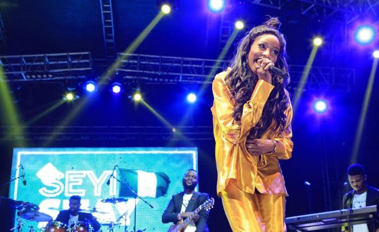 Seyi Shay performs at Blankets and Wine Kampala