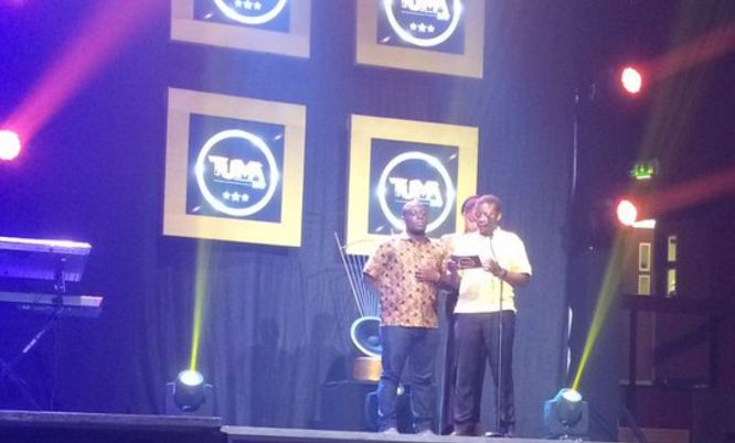 Radio personality Kasuku at The Uganda Music Awards