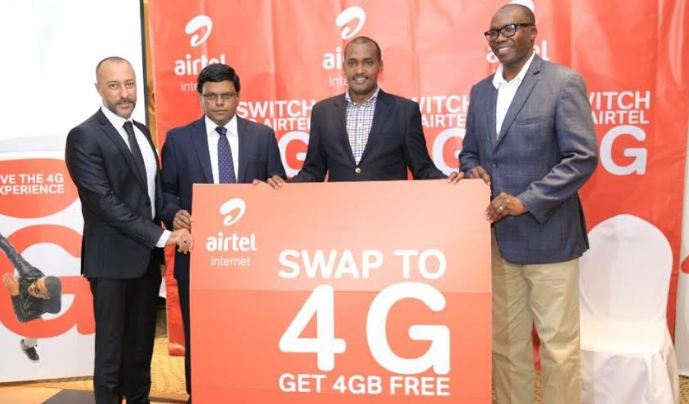 Airtel Uganda launches 4G network, customers to receive free data